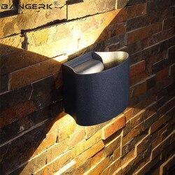 IP65 wodoodporne ściany kinkiety lampy na zewnątrz 6 W LED ganek światła W górę W dół nowoczesne kinkiety ścienne lampy ogrodowe dziedziniec oświetlenie aluminiowe