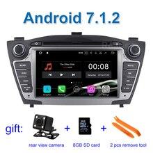 2 ГБ Оперативная память 4 ядра 1024*600 чистый андроид 7.1 автомобильный DVD для hyunda IX35 Tucson 2011 2012 2013 автомобилей радио RDS видео GPS