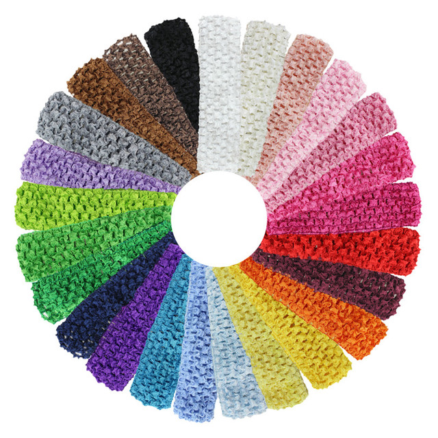 16 Width Baby Crochet Elastic Headband Crochet Bands Children Hair