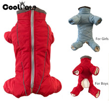 CoolPaw Pet Dog Clothes Winter Reflective Waterproof Coat Jacket Plus Velvet Thickening All Belly Puppy Clothes