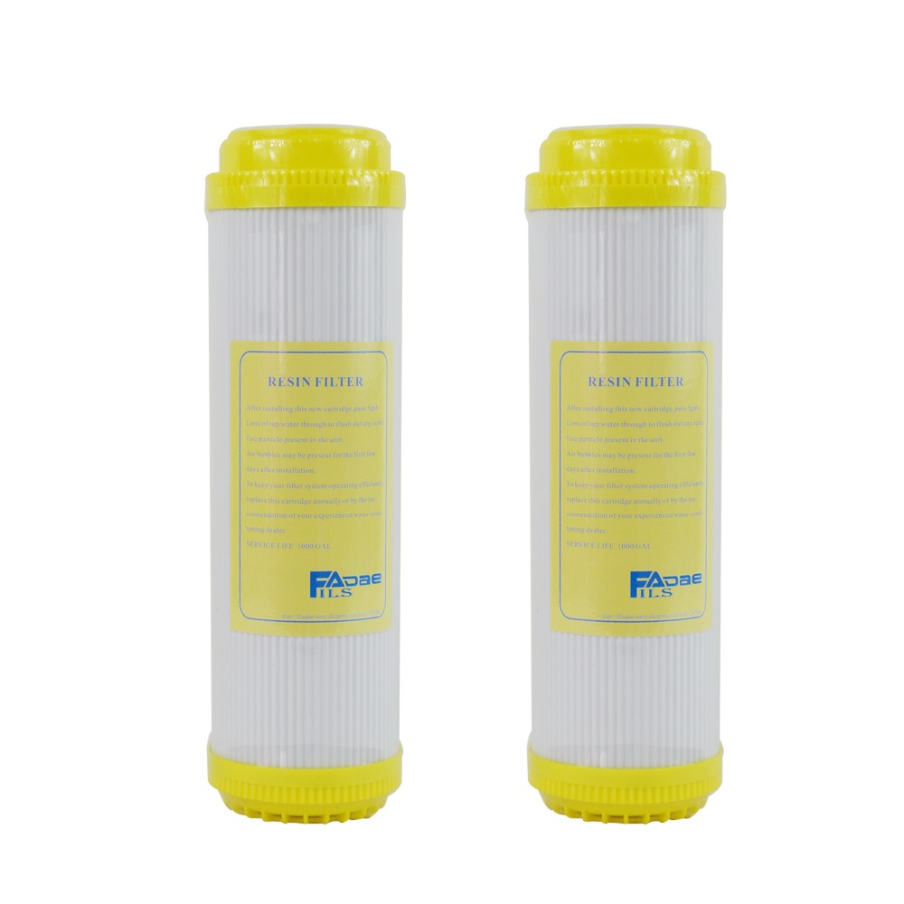 Water Filter Softening Cartridges 10in.  Ion Exchange Resin Filter, remove calcium and magnesium ions from water - Pack of 2