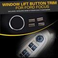 Botão de elevação das janelas do carro Chrome anel De Lantejoulas Acessórios Do Carro para ford focus 2 MK2 sedan hatchback 2006 2007 2008 2009 2010