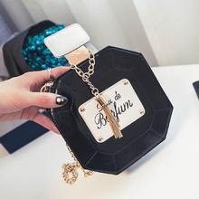 Damen Ketten leder clutch handtasche kette mini parfüm flasche frauen abendgesellschaft Quaste messenger bag sac pochette