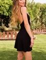 2016 Женщины Летний Пляж Спинки Платья Мода Повседневная Спагетти Ремень Dress Ladies Sexy Мини-Клуб Dress Черный Свободные Vestidos