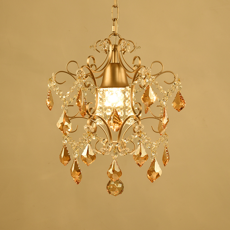 American small chandelier balcony aisle corridor entrance stairs study lamp hall hall lights single head modern crystal type ceiling lamps aisle lights round corridor lights balcony foyer porch lamp crystal chandelier stairs restaurant