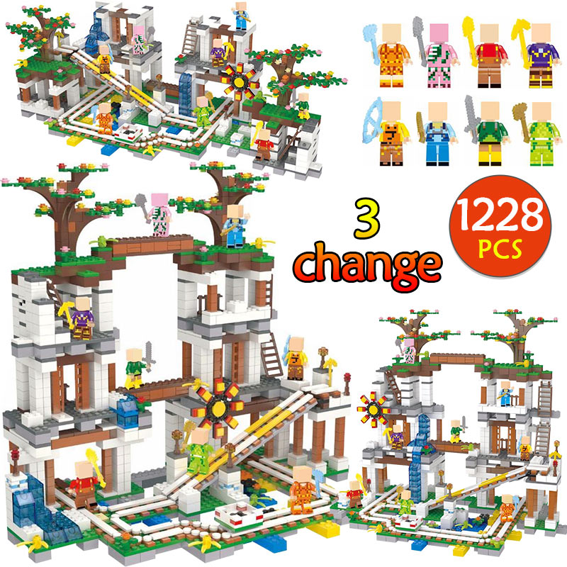 1228Pcs The Mine My world legoing Minecraft 21118 Figure Kids Educational Building Blocks Bricks Toys For Children Gift qigong legendary animal editon 2 chimaed super heroes building blocks bricks educational toys for children gift kids