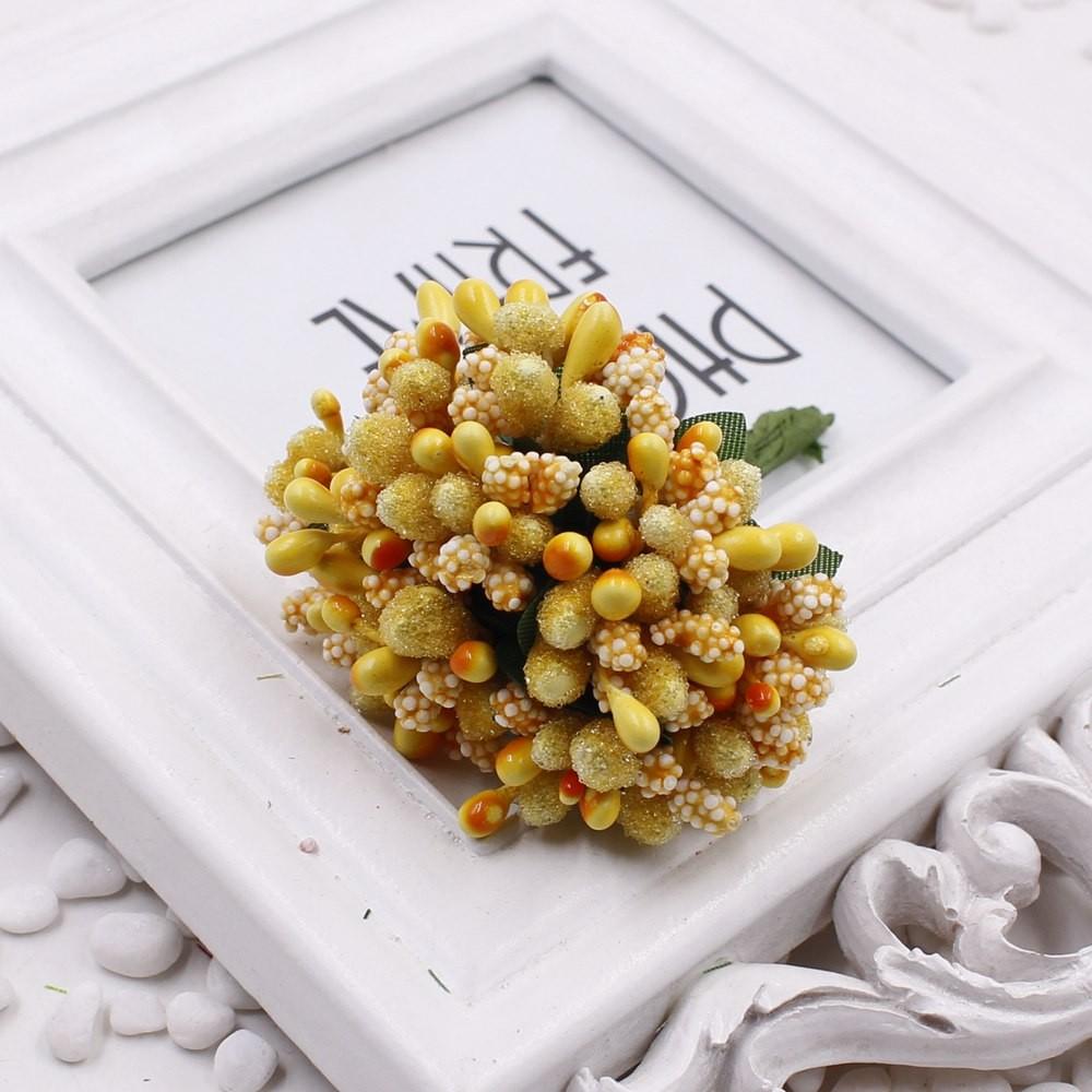 16 12pcs Berry Artificial Stamen Handmade Flower For Wedding Home Decoration Pistil DIY Scrapbooking Garland Craft Fake Flower 8