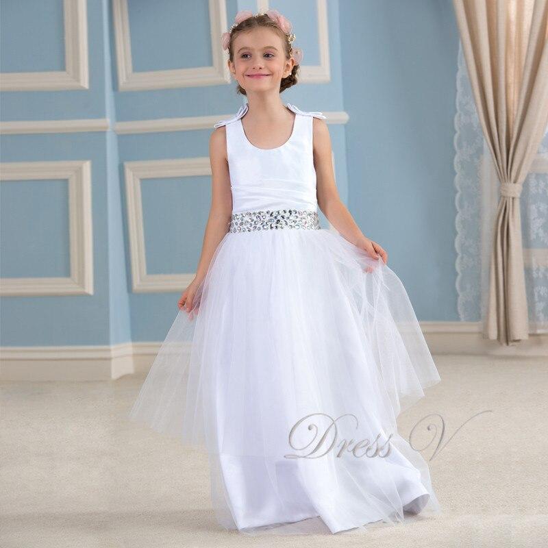 Aliexpress.com : Buy Cute White Flower Girl Dresses A Line Ivory ...