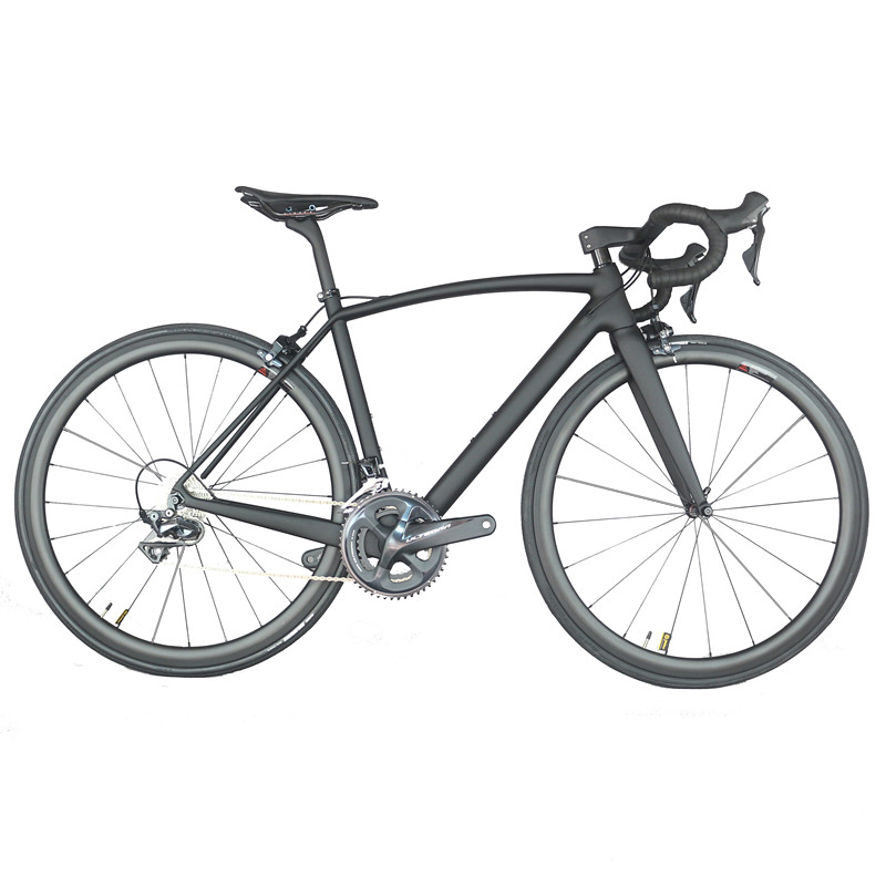 All internal cable carbon road complete bike intergrated handlebar Aero 38*25mm rims with Sh1mano R8000 Groupset  22 speed FM208