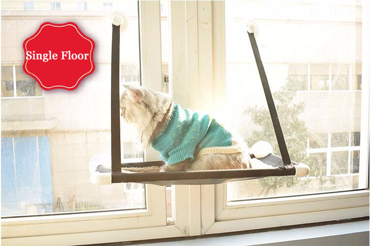 Cat Lounger Cat Hammock Bed Mount Window Cat Lounger Suction Cups Warm Bed For Pet Cat Rest House Soft Comfortable Bed #3