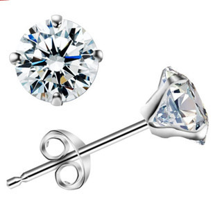 Kittenup new 6MM korean white stub earrings for women fashion jewelry pendientes EH0110 ...