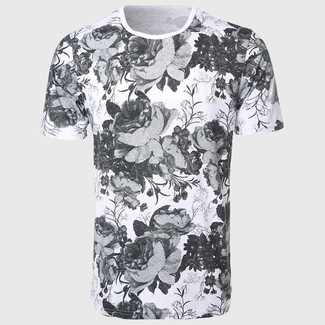 Buy designer rose floral t shirts men for Floral mens t shirts