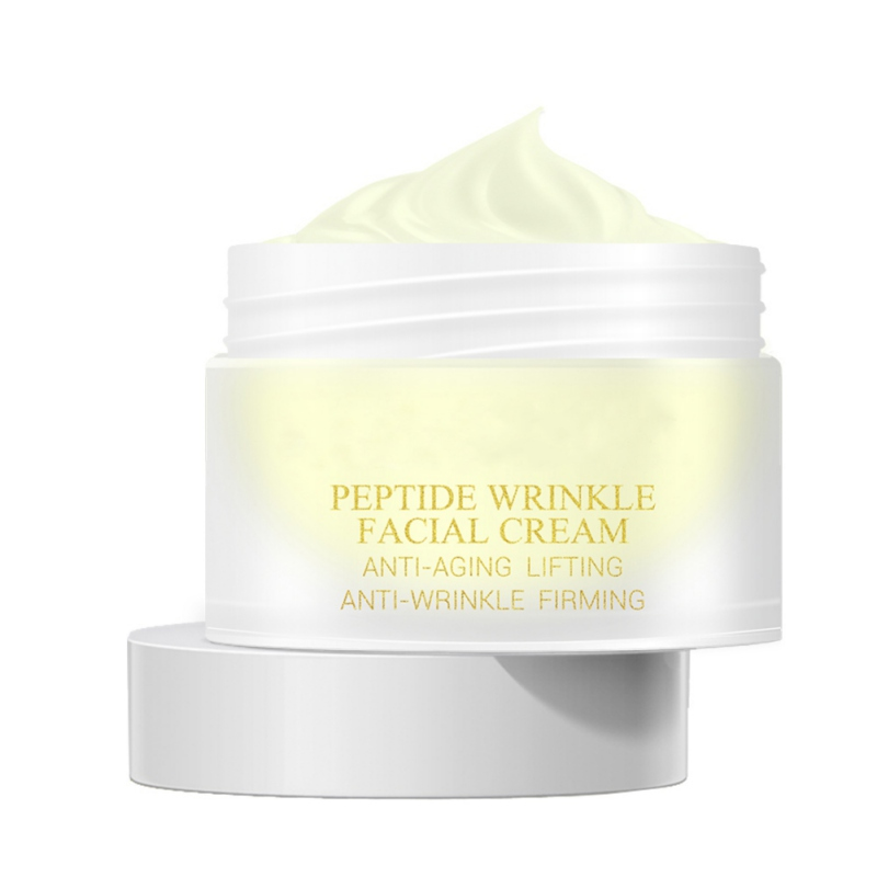 Peptide Anti Wrinkle Facial Cream Anti Aging Skin Whitening Lifting Firming Hyaluronic Acid Snail Cream 2018 Products