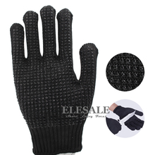 New 1 Pair Work Safety Anti-skid Anti-Cutting Gloves With Palm Dotted Stainless Steel Wire Cut-Resistant Gloves For Butcher