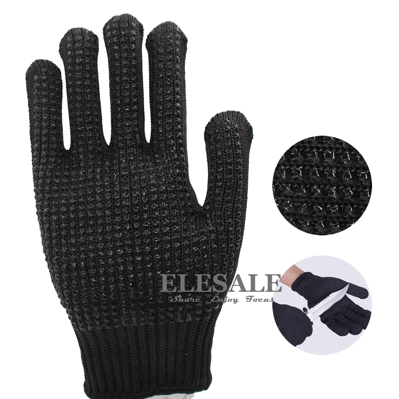 New Work Safety Gloves Anti-skid Anti-Cutting With Palm Dotted Stainless Steel Wire Cut-Resistant Gloves For Butcher 2017new style 316l anti cut gloves with stainless steel safety protective gloves with a anti cut hppe gloves 2 pairs