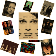 Orphan Black tv poster Vintage Retro movie Antique Poster Wall Sticker Home Decora Wall Decorative Paintings
