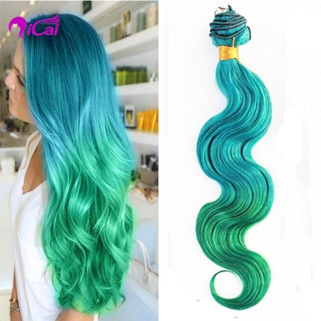 Ombre Hair Extensions Brazilian Virgin Hair Body Wave 3pcs Lot Two