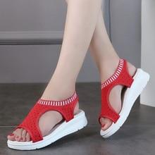 цены на Women's Summer Breathable Mesh Sandals Open Toe Flat Sandals Casual Leisure Flat Shoes for Ladies  в интернет-магазинах