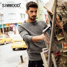 Simwood Новинка 2017 осень-зима свитер для повседневной носки Для мужчин модные пуловеры с длинными рукавами MY2015