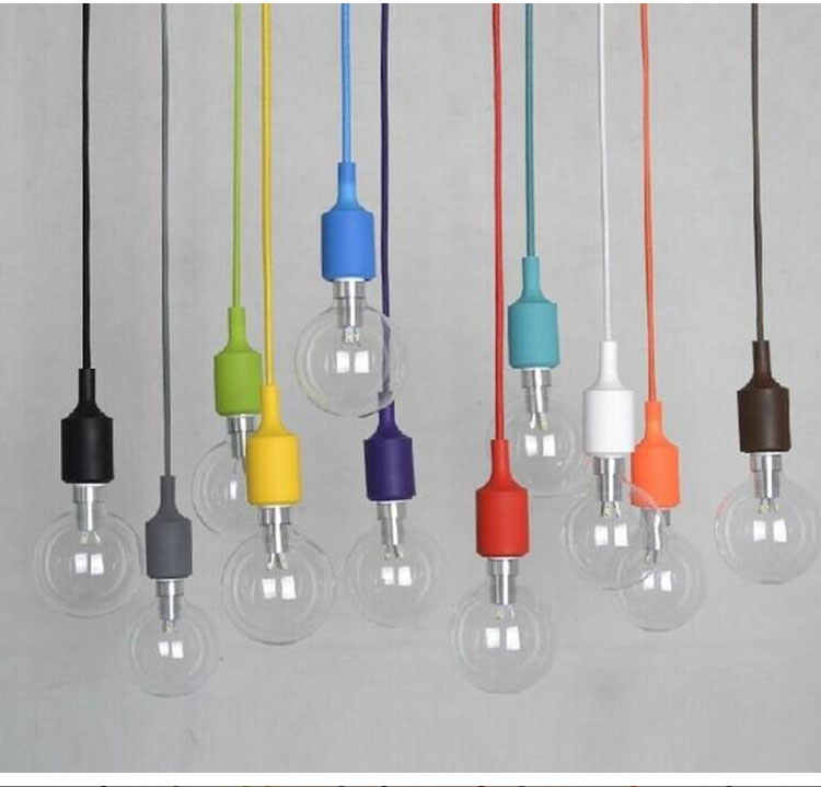 Creative rainbow small chandelier color simple chandelier single head window clothing store decoration simple chandelier lamps