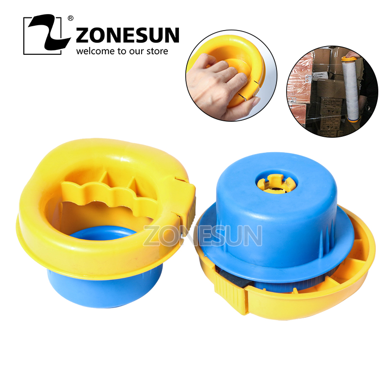 ZONESUN Hand Held Plastic Stretch Film Handle Manual Film Wrapping Tools PP Texture Reusable Film Wrapping Tools|Food Processors| |  - title=