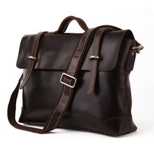 Fashionable Hot Sale Genuine Cow Leather Men's Briefcase Laptop bag Shoulder Messenger Bag 7082C