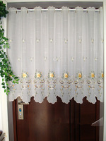 Half Curtain Embroidered Valance Partition Fashion Hem Curtain Customize Curtain For Kitchen Cabinet Door Free Shipping