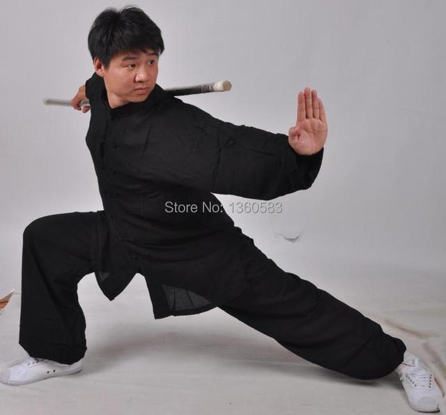Высокое качество Lightcotton тай-чи равномерное боевых искусств костюм ушу кунг-фу одежда тайцзи одежда куртка + брюки для мужчин женщин детей