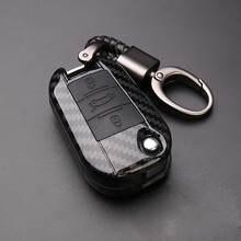 Абс, силикон, углеродное волокно, автомобильный чехол для ключей, чехол для Citroen C4 кактус C5 C3 C6 C8 Picasso Xsara для peugeot 3008 308 RCZ 508