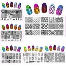 1pc New Stamping Nail Art Kit Abstract Flower Desgisn Template Image Plate 6*12cm Stencil Tools For Beauty Salon QXE(1-20)
