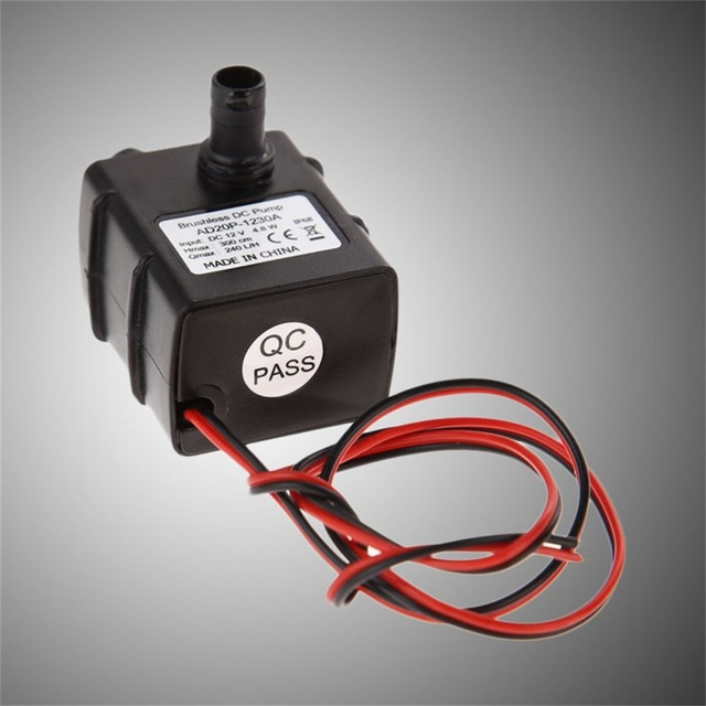 Genuine DC Water Cooling Pump 240L/H 12V Mini Ultra Quiet Black Submersible Pump Centrifugal Pump Drop Shipping Wholesales Office & School Supplies