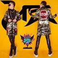 2015 Новый бар Ночной Клуб Мужской DJ Певица GD Стили Flaming Lips камуфляж блестками куртка костюмы для dancer показать звезды