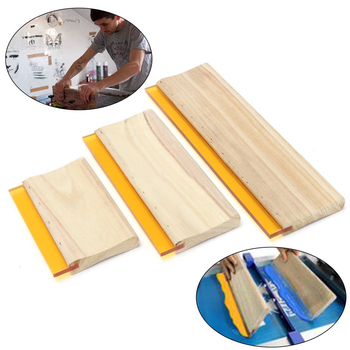 3pcs/lot Wearproof Silk Screen Printing Squeegees Blade Wooden Handle Mayitr Ink Scraper Scratch Board Tools 16cm 24cm 33cm