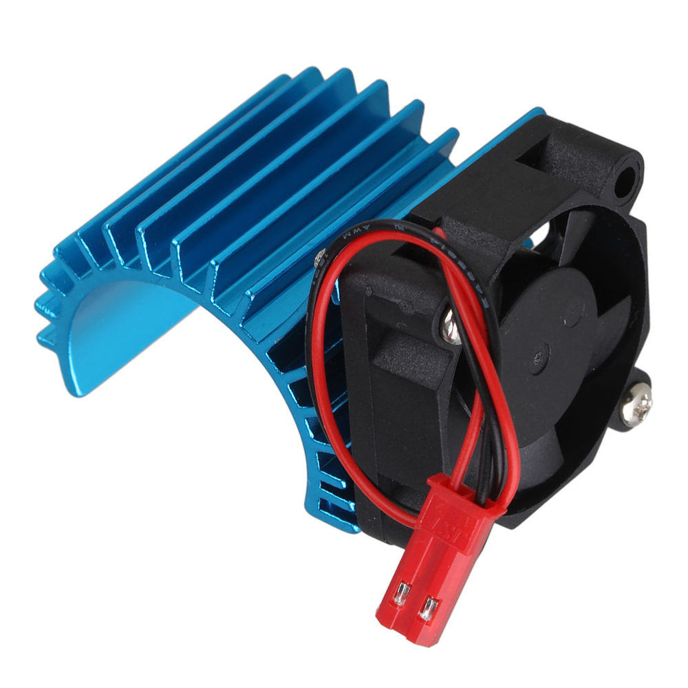 Mxfans Blue Aluminum 308006 Heat Sink Stock 380 Motor Cooling Fan for RC1:16 <font><b>Model</b></font> <font><b>Car</b></font> image