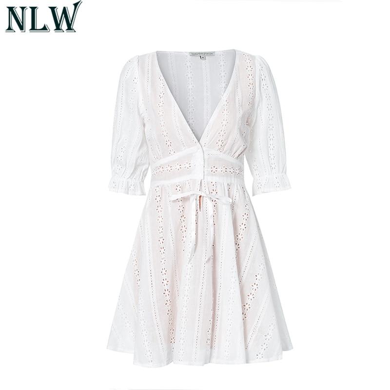 Sweet Lolita White Cotton Lace Dress 1