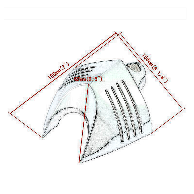 High Quality Chrome Motorcycle Bike V Shield Horn Cover For For