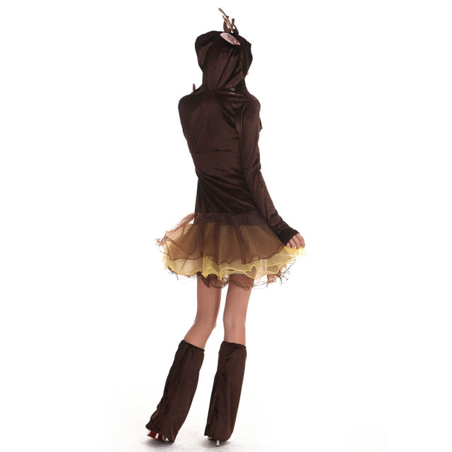 Womenu0027s Reindeer Costume Sexy Animal Christmas Costume Outfit Deluxe Cute Deer Tutu Dress Fancy Christmas Party Dresses  sc 1 st  Aliexpress : womens reindeer costume  - Germanpascual.Com