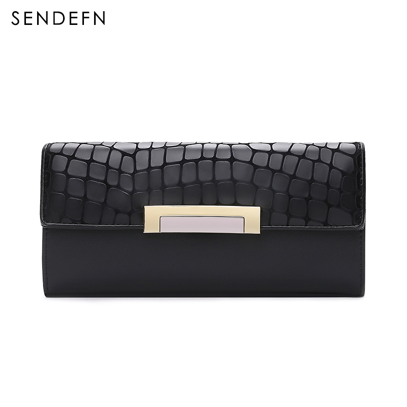 Sendefn Fashion Coin Purse Hot Sale Wallet Quality Leather Women Wallets Card Holder Purse Lady Party Clutch Long Wallet Female high quality floral wallet women long design lady hasp clutch wallet genuine leather female card holder wallets coin purse