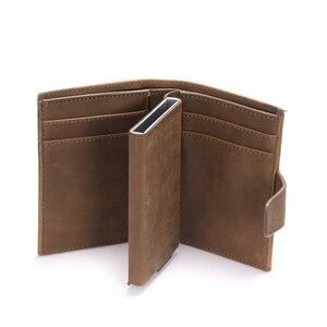 Image 4 - Bisi 五郎 2020 スマート財布男性 rfid カードホルダーアルミ合金金属クレジットカード財布盗難防止男性自動カードケース