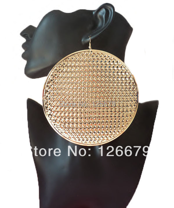 2018 New Fashion Design Cheap Price Gold Big Size Punk Sexy Basketball Wives Hook Earrings for Women