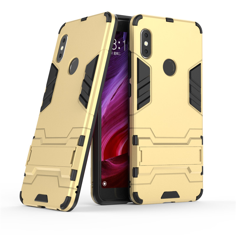 360 Armor Case Redmi Note 5 Protective Plastic+Silicone Cover For Xiaomi Redmi Note 5 Pro Stand Case Shockproof Hybrid Cover