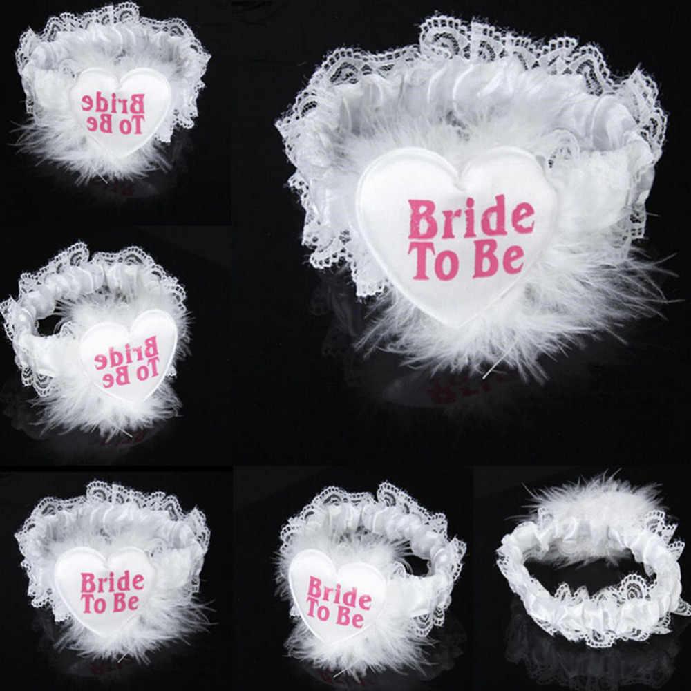 Милые сладкие невесты быть кружева подвязки девичник любимая Свадебная команда партнер Свадебная вечеринка пользу девичник поставки 1 шт.