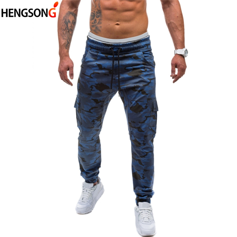Mens Jogger Autumn Pencil Harem Pants Men Camouflage Military Pants Lace Up Trousers Men Fitness Pants Clothing Sweatpants Camo