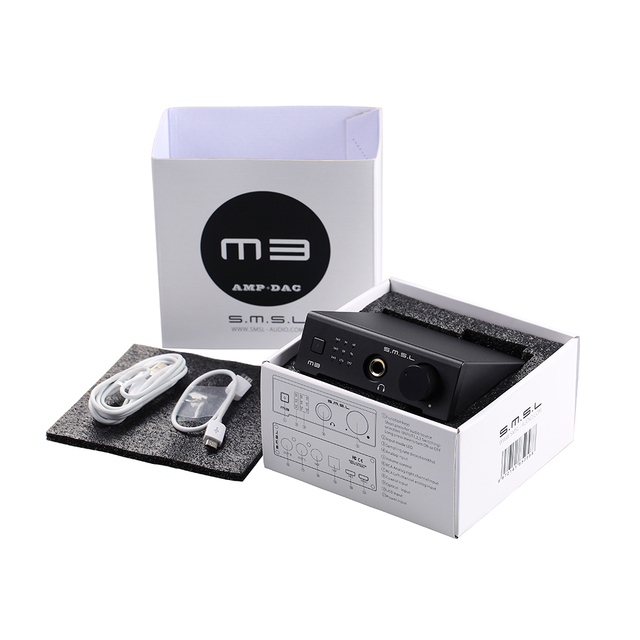 SMSL M3 USB DAC AMP Multi-function Optical Coaxial Headphone Amplifier Portable USB Powered Audio Decoder Portable DAC Converter 6