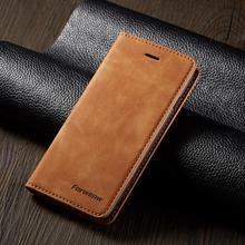 Магнитный кожаный чехол для iPhone 6 S 7 8 Plus X XS Max XR 11Pro Max с отделением для карт, откидной Чехол бумажник для iPhone 6s 7plus 8plus