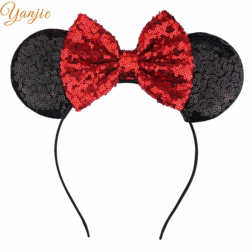 Accessoires Chic 5 pailletten Bogen Cosplay Dot Minnie Maus Ohren Haarband Trendy 2019 Diy Haar Zubehör Für Kinder Headwear Partei Dekoration Zu Den Ersten äHnlichen Produkten ZäHlen Mutter & Kinder