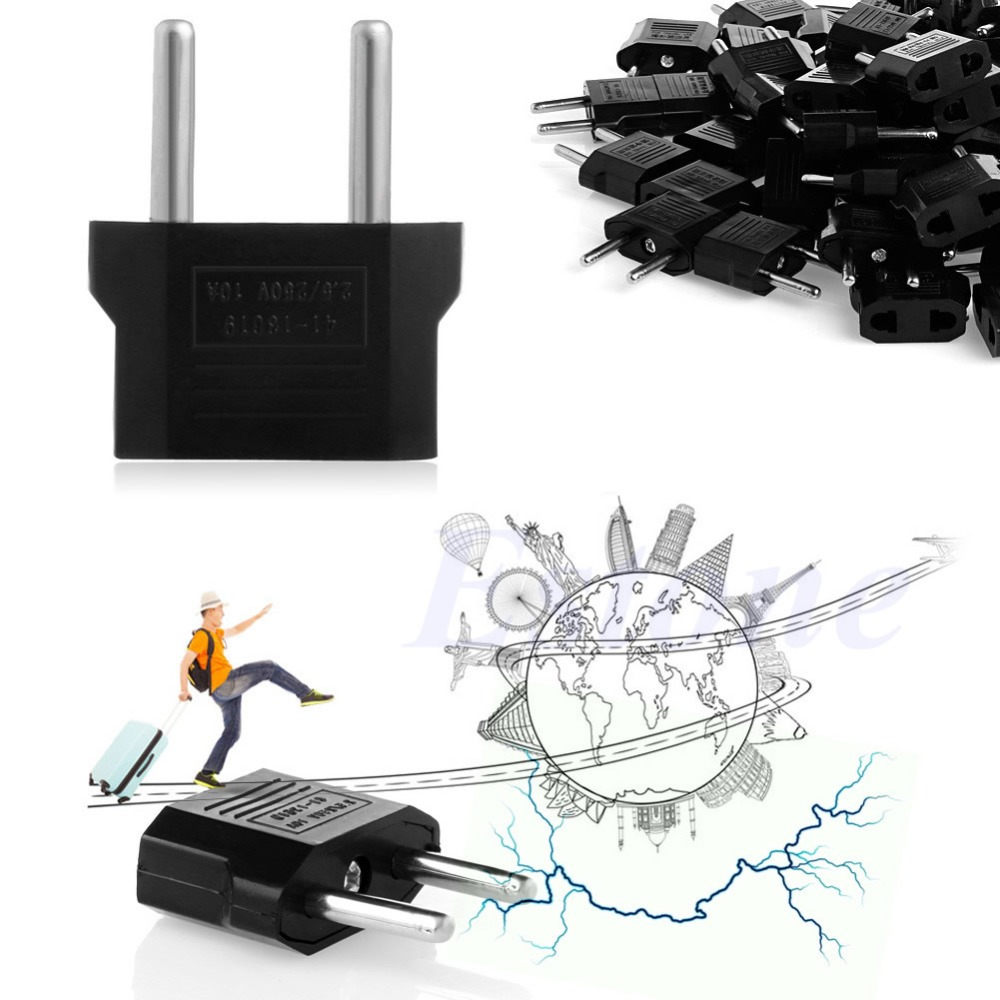 100Pc US AU to EU European Travel Charger Adapter AC Power Plug Outlet Converter evolylcam 12v2a power supply ac dc power adapter for security cctv camera system nvr dvr converter us eu uk au plug charger