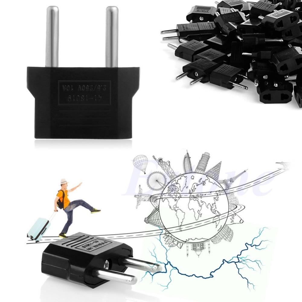 100Pc US AU to EU European Travel Charger Adapter AC Power Plug Outlet Converter power adapter 12v 1a ac 100 240v dc eu us uk au charger optional for security surveillance cctv cameras