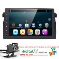 9inch 1024x600 HD Touch Screen 1 din Android7.1 Car Multimedia Radio Stereo for BMW E46 M3 318 330 Wifi 3G Bluetooth DVR RDS USB