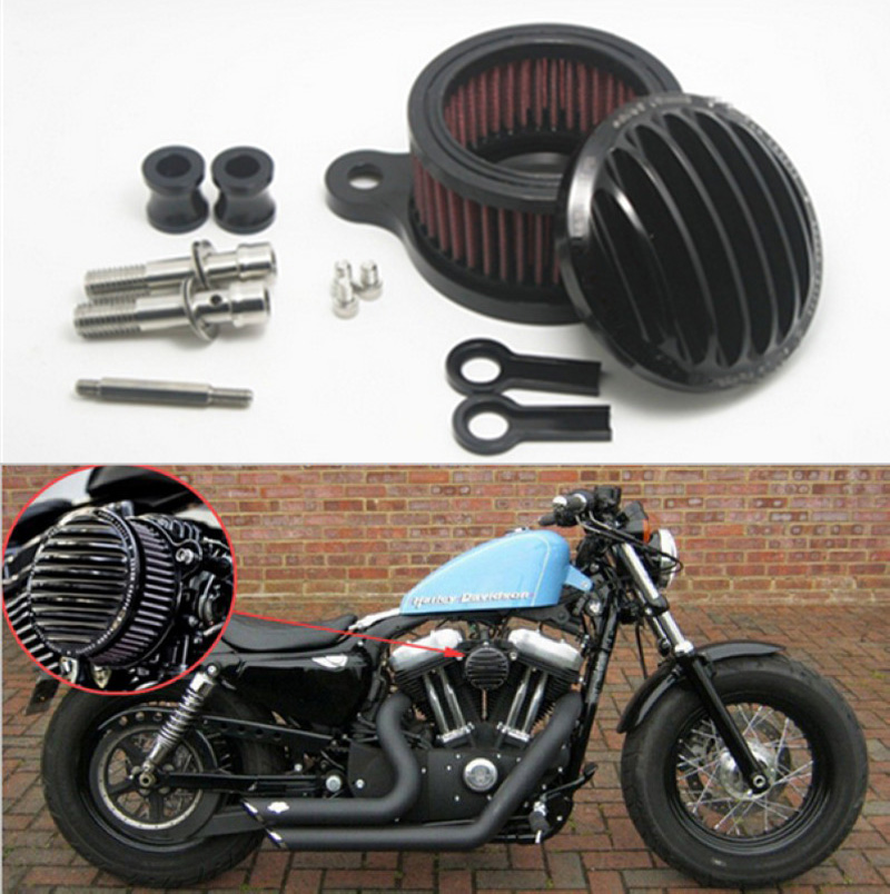 Motorcycle CNC parts Air Cleaner Intake Filter System Air Filter For 2004 - 2015 Harley Sportster XL 883 XL1200 motorcycle air filter intake cleaner for harley davidson sportster xl883 xl1200 2004 2015 04 05 06 07 08 09 10 11 12 13 2012